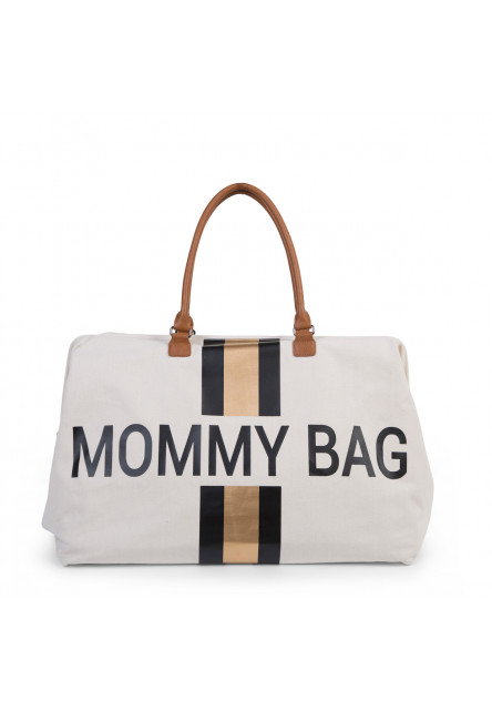 Prebaľovacia taška  Mommy Bag Big Off White / Black Gold Childhome