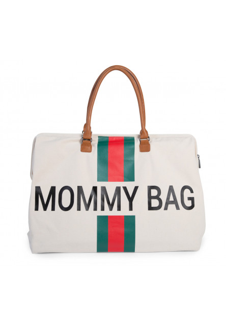 Prebaľovacia taška Mommy Bag Big Off White / Green Red