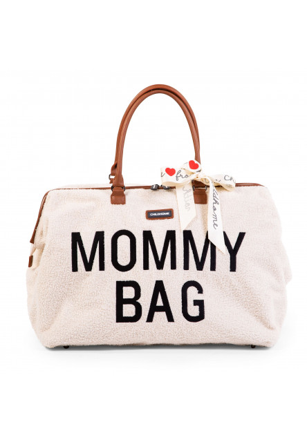 Prebaľovacia taška Mommy Bag Teddy Off White Childhome